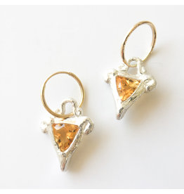 BREVARD Sterling Silver Victory Earrings with Citrine