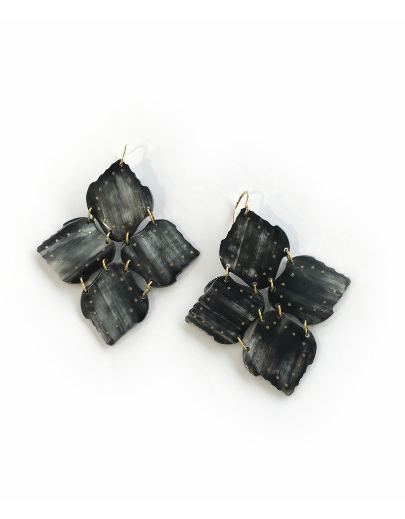 ASHLEY PITTMAN Angalia Earrings Dark Horn