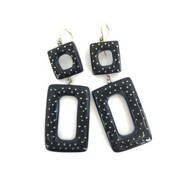 ASHLEY PITTMAN Kariri Earrings Dark Horn