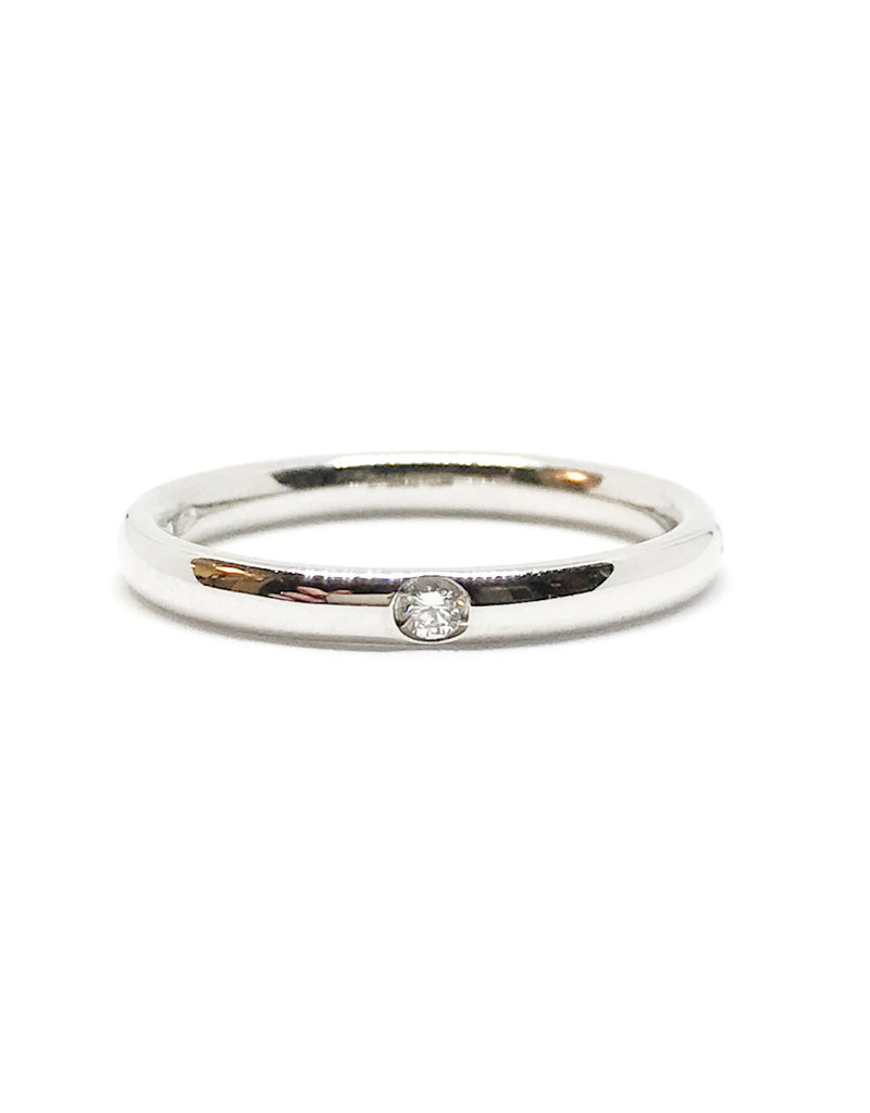 POMELLATO White Gold Lucciole 1 Diamond Band