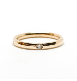 POMELLATO 18K RG Lucciole Band 1 Diamond