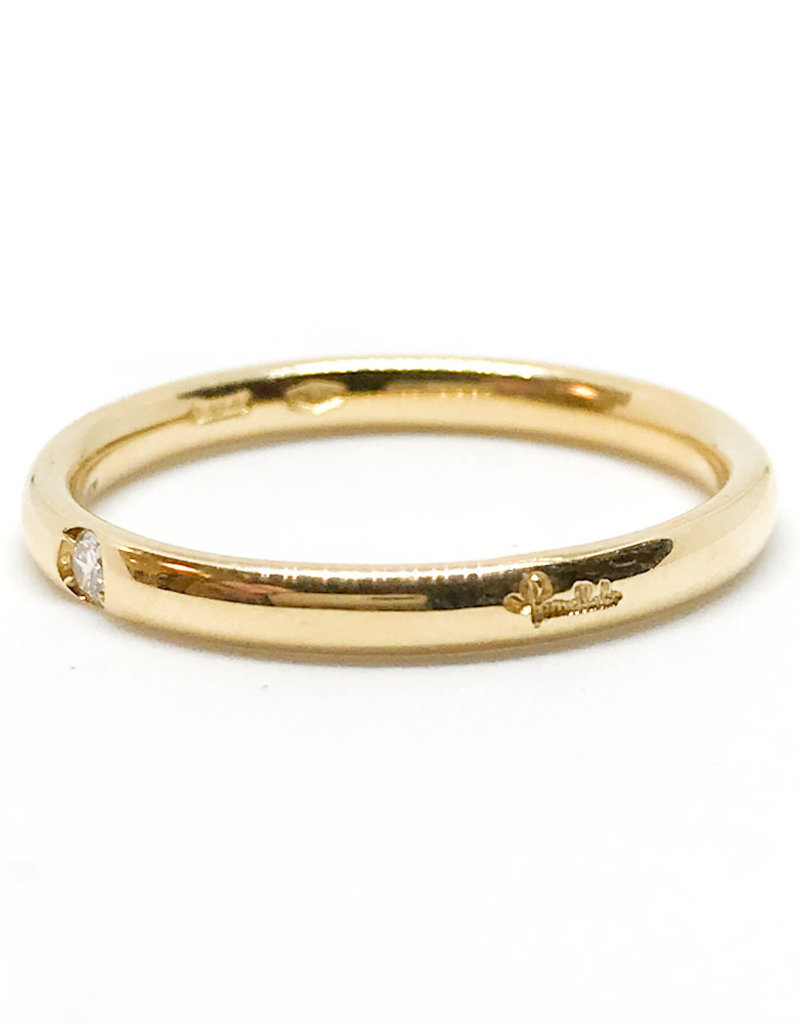 POMELLATO Yellow Gold 1 Diamond Lucciole Band