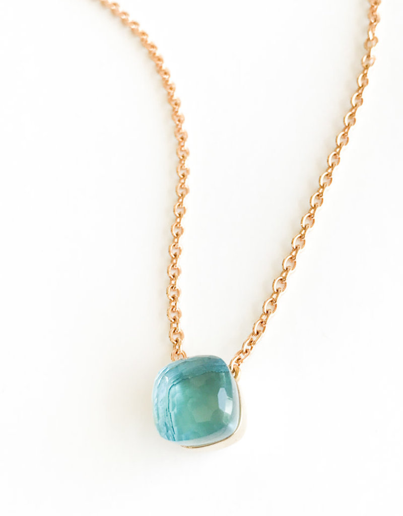 POMELLATO Blue Topaz Nudo Necklace