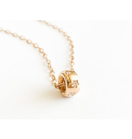 POMELLATO Rose Gold and Diamond Iconica Pendant Necklace