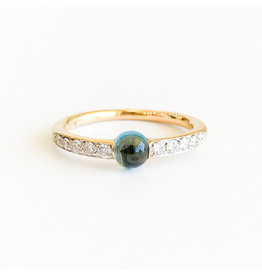 POMELLATO London Blue Topaz Diamond M'ama Non M'ama Ring