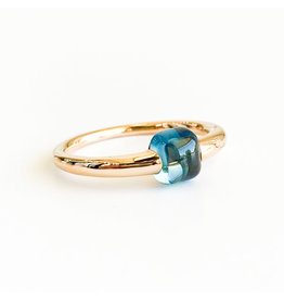POMELLATO London Blue Topaz M'ama Non M'ama Ring