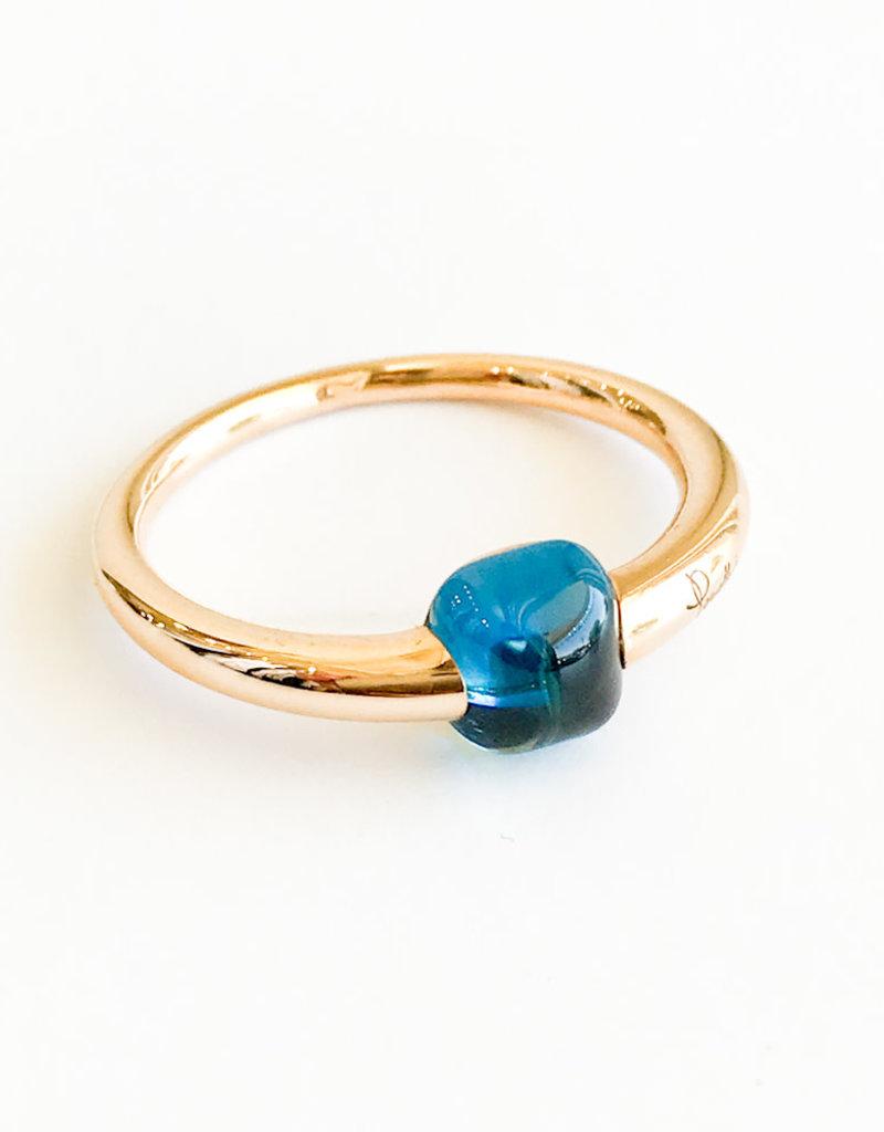 POMELLATO London Blue Topaz M'ama Non M'ama Ring