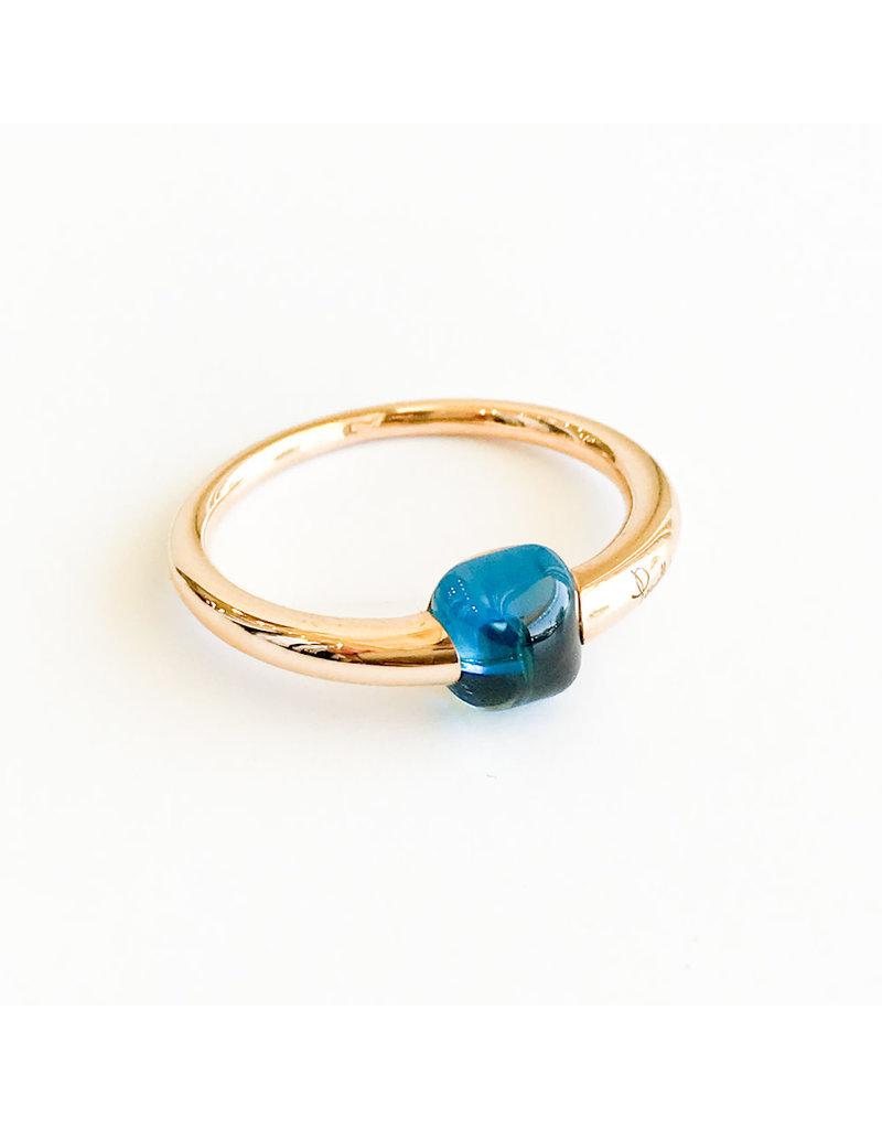 POMELLATO M'ama Non M'ama London Blue Topaz Ring