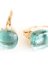 POMELLATO Blue Topaz Nudo Earrings