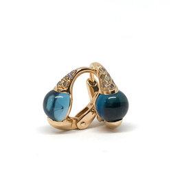POMELLATO London Blue Topaz M'ama Non M'ama Earrings