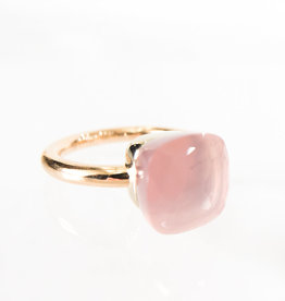 POMELLATO Rose Quartz Nudo Ring