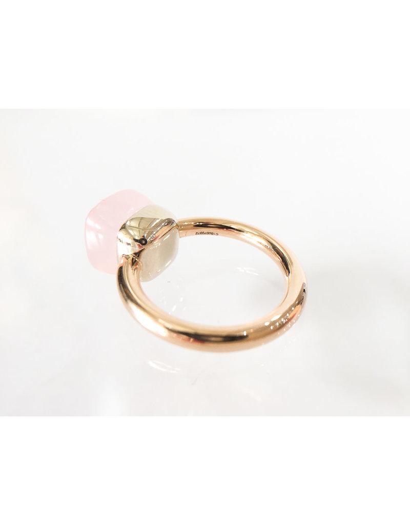 POMELLATO Rose Quartz Nudo Ring