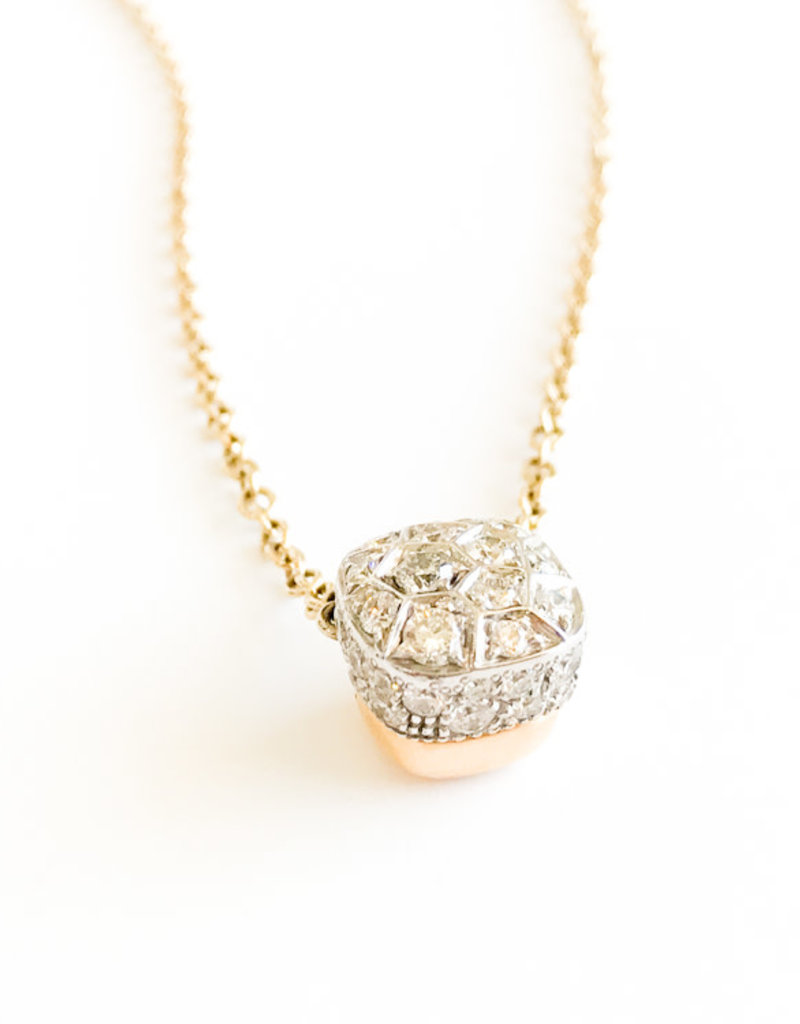 POMELLATO White Diamond Nudo Necklace