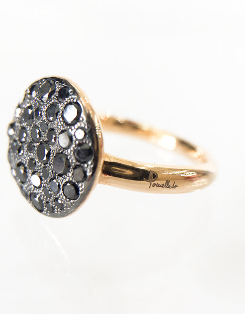 POMELLATO Black Diamond Sabbia Ring