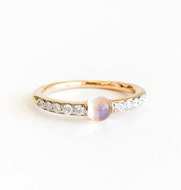 POMELLATO Moonstone M'ama Non M'ama Diamond Ring