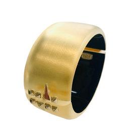 ALEXIS BITTAR Golden Studded Hinge Cuff - Gold