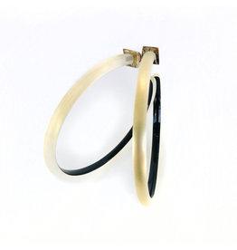 ALEXIS BITTAR Large Skinny Hoop - Gold