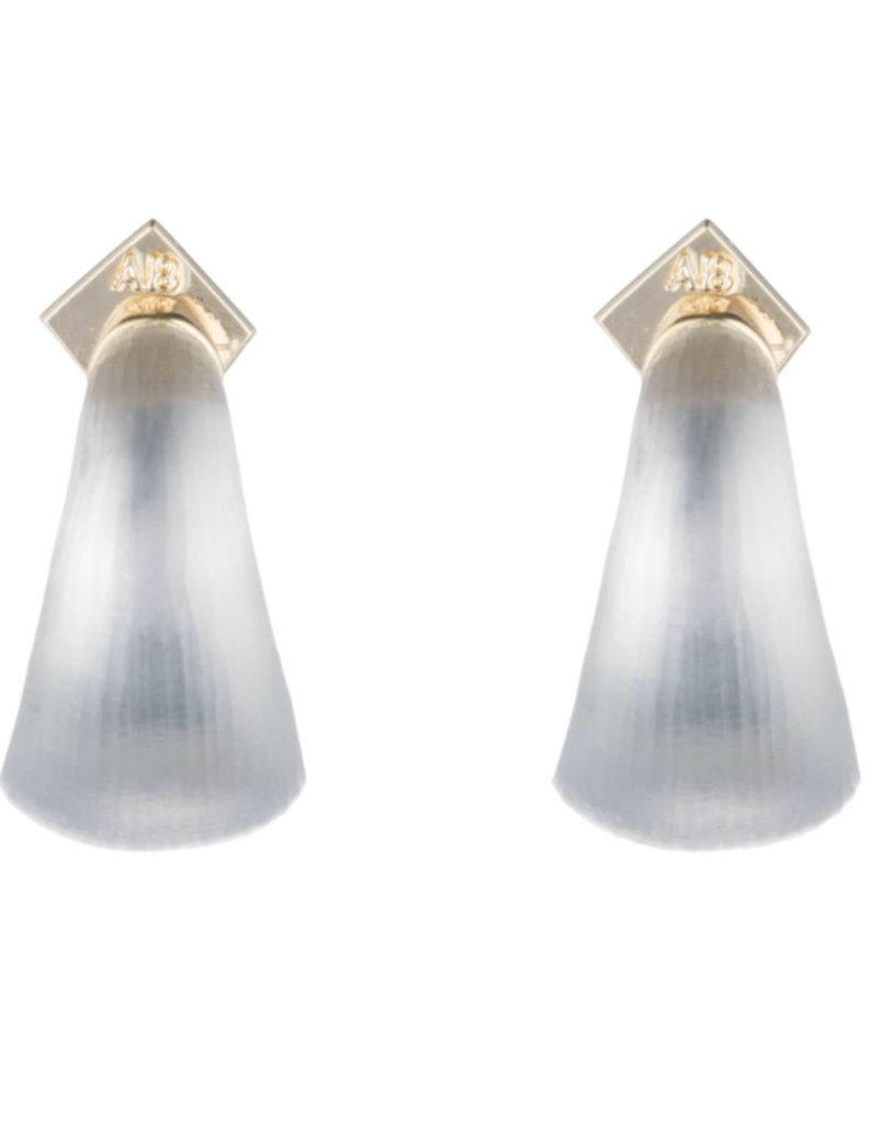 ALEXIS BITTAR Lucite Huggie Earrings - Grey