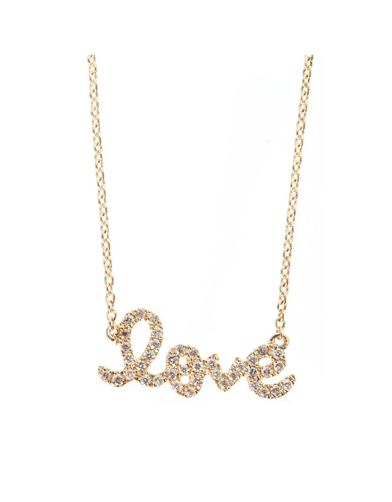 SYDNEY EVAN Diamond Love Necklace