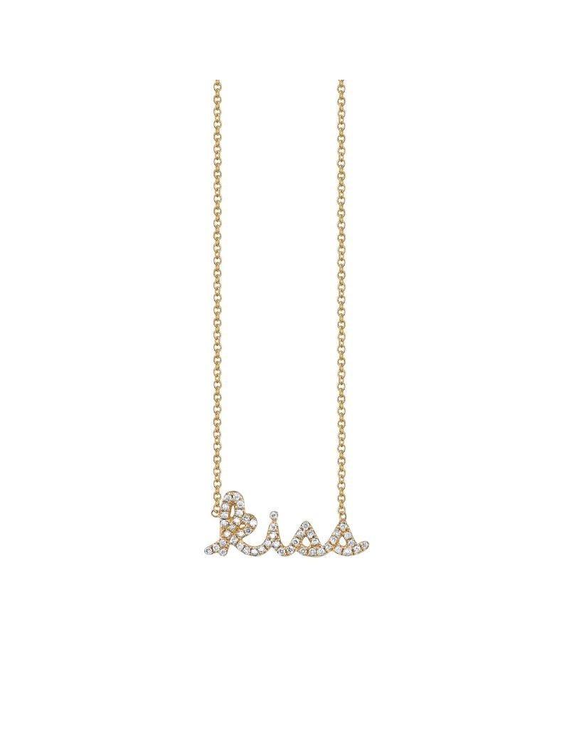 """SYDNEY EVAN Diamond Kiss Necklace 16"""""""