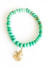 SYDNEY EVAN Green Opal & Frog Bracelet