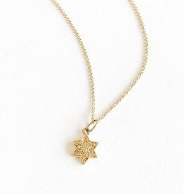 SYDNEY EVAN Diamond Star of David Necklace