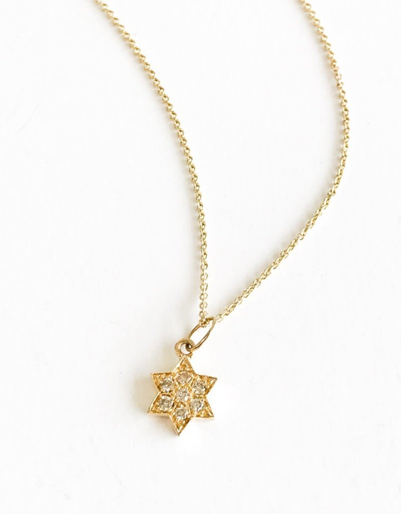 SYDNEY EVAN Diamond Star of David Necklace