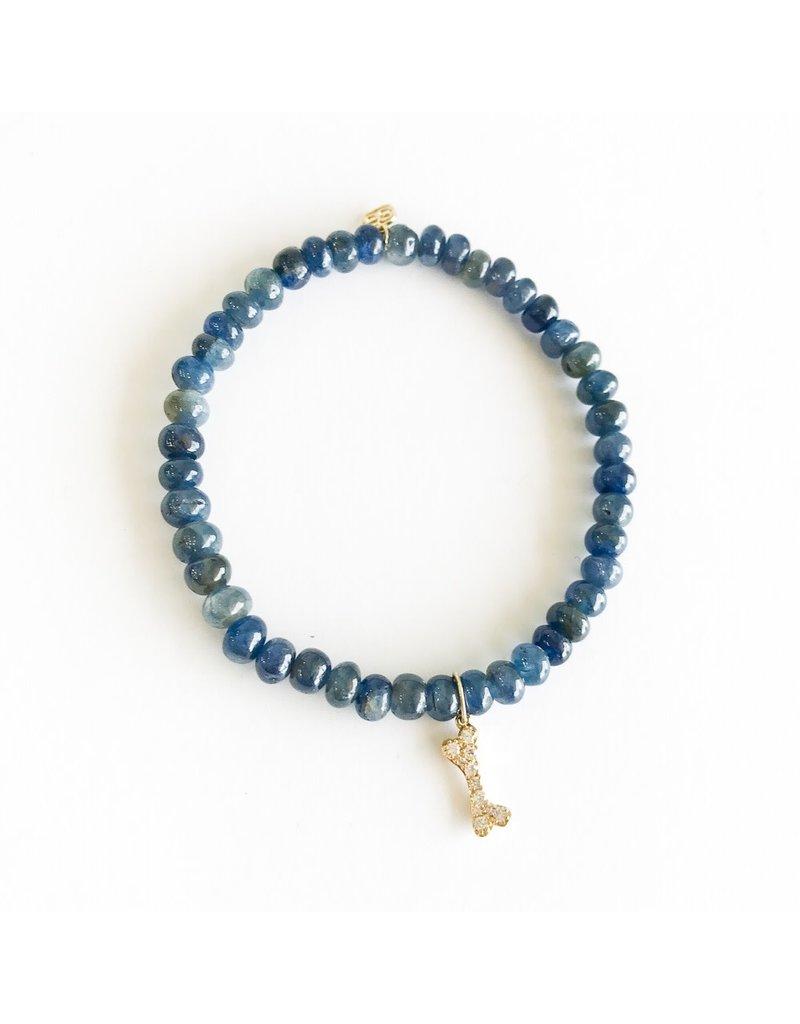 SYDNEY EVAN Sapphire & Dog Bone Bracelet