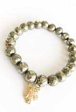 SYDNEY EVAN Pyrite & Owl Bracelet