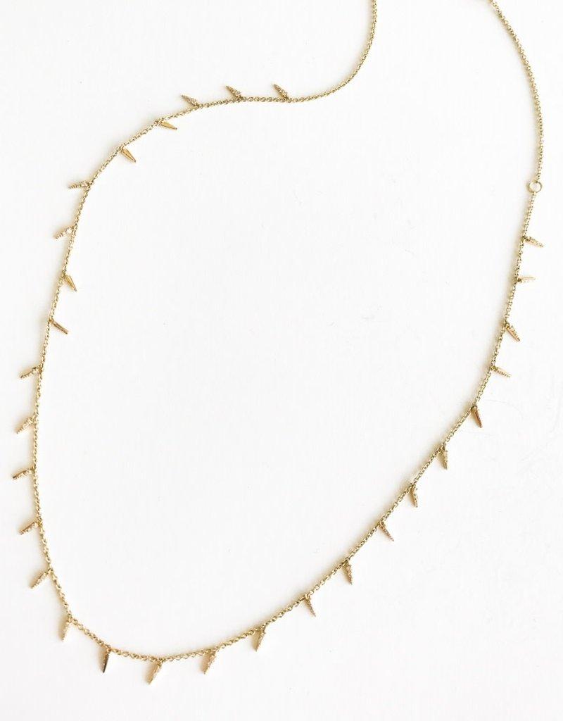 SYDNEY EVAN Pave Fringe Necklace