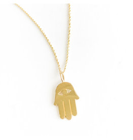 SYDNEY EVAN Gold Hamsa Necklace
