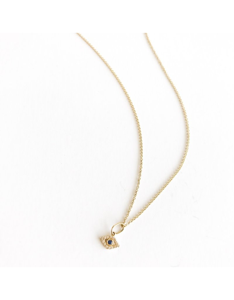 SYDNEY EVAN Diamond Evil Eye Necklace