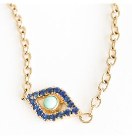 SYDNEY EVAN XLarge Evil Eye Necklace