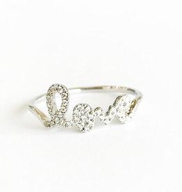 SYDNEY EVAN Diamond Love Ring  - Size 6 1/2