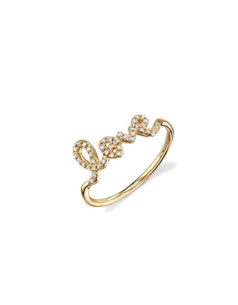SYDNEY EVAN Diamond Love Ring - Size 7