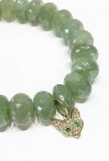 SYDNEY EVAN Silverite & Fox Head Bracelet
