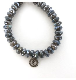 SYDNEY EVAN Labradorite with Pave Moon & Star Bracelet