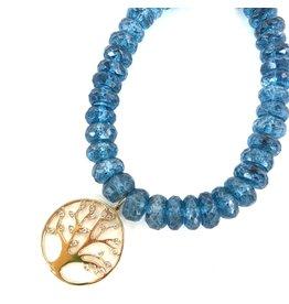 SYDNEY EVAN London Blue Quartz & Tree of Life Bracelet