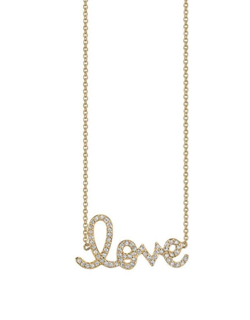 SYDNEY EVAN Medium Diamond Love Necklace