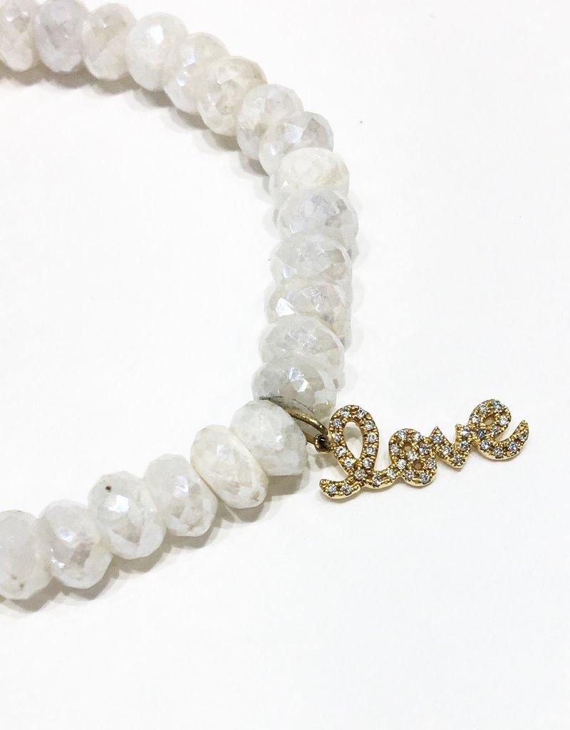 SYDNEY EVAN White Sapphire & Diamond Love Bracelet