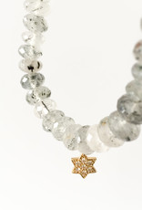 SYDNEY EVAN Tourmalated Quartz & Star of David Bracelet