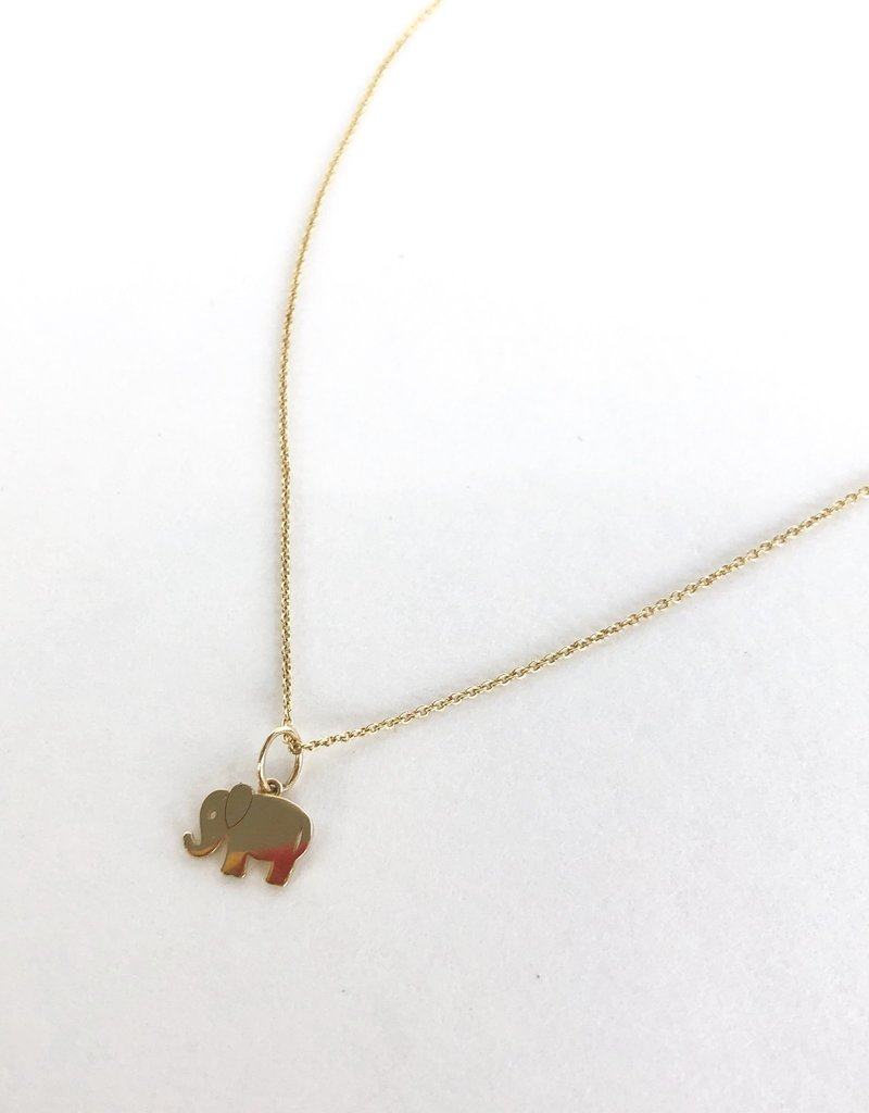 SYDNEY EVAN Gold Elephant Necklace
