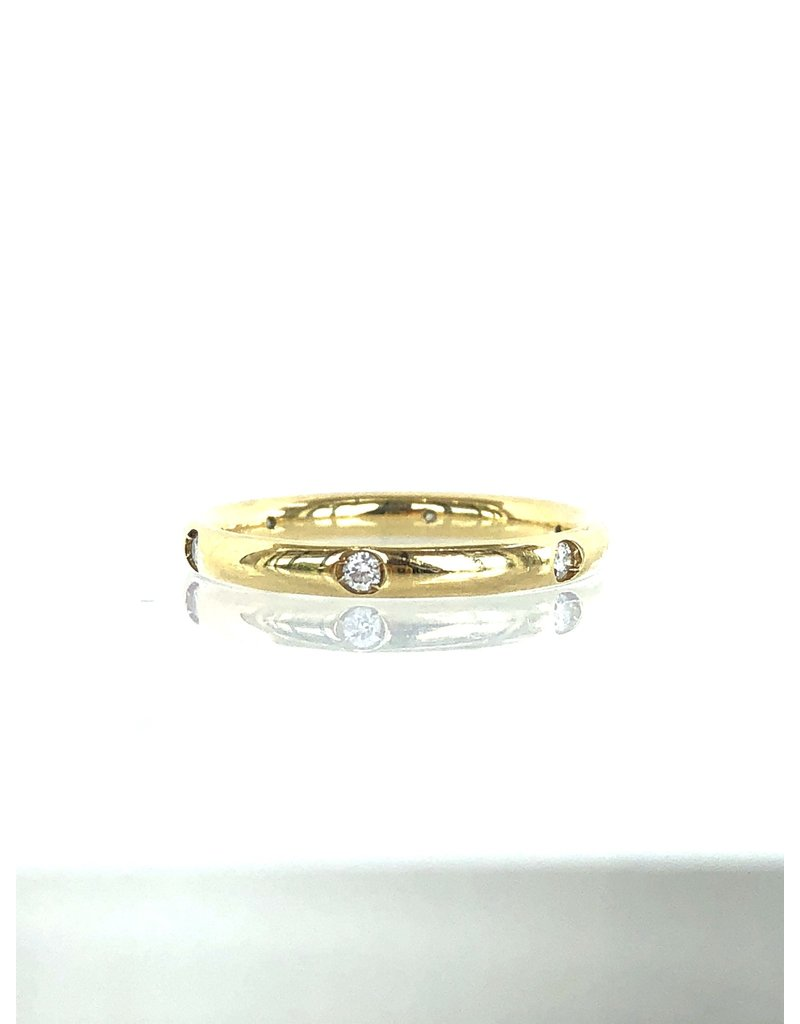 POMELLATO Yellow Gold 6 Diamond Lucciole Band