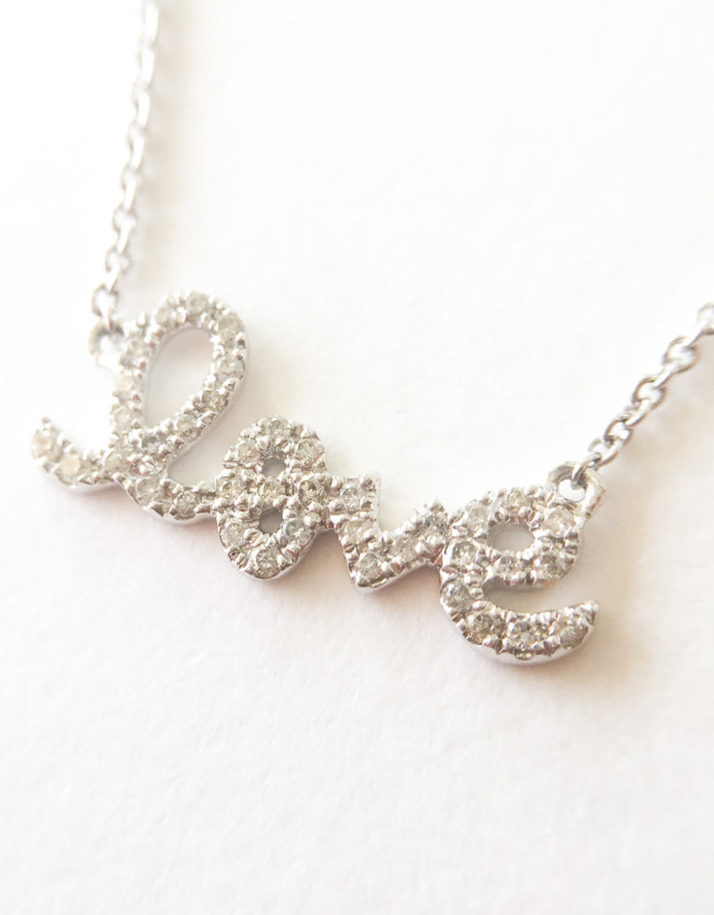 SYDNEY EVAN Diamond Love Necklace