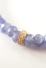 SYDNEY EVAN Blue Tanzanite & Diamond Rondelle Bracelet
