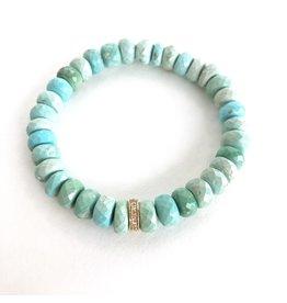 SYDNEY EVAN Turquoise & Diamond Rondelle Bracelet
