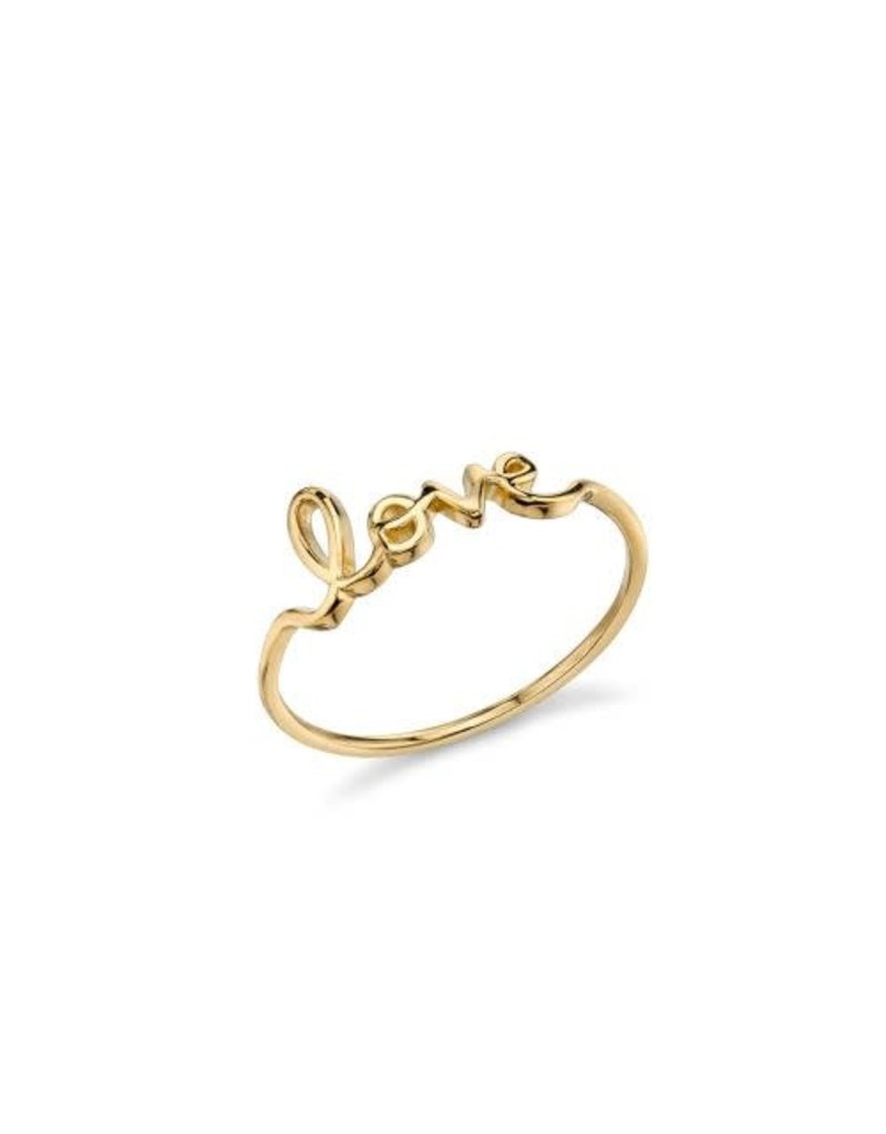 SYDNEY EVAN Gold Pure Love Ring