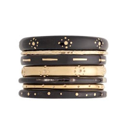 ASHLEY PITTMAN Kaimu Bangle Set Dark Horn