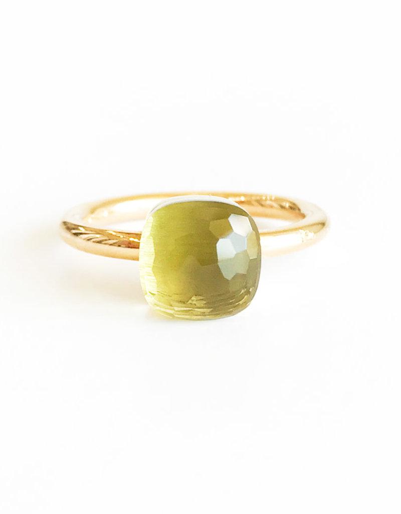 POMELLATO Lemon Quartz Petit Nudo Ring