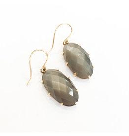 JAMIE JOSEPH Grey Moonstone Earrings